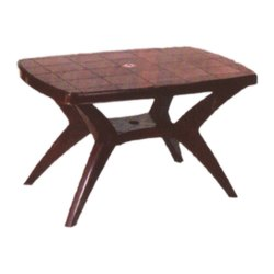 SHUBH Brown Cross Leg Dining Plastic Table, For Home,Office