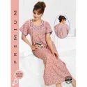 Ladies Half Sleeve Printed Full Length Nighty