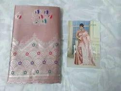 Silk Saree With Silver Zari Weaving