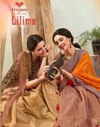 Triveni Lilima Attractive Look Modern Stylish Saree