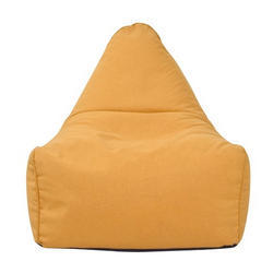 Couchette Yellow Bean Bag Couch/Sofa, Size: L
