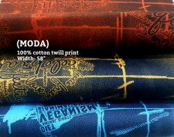 Moda 100% Cotton Twill Print Fabric