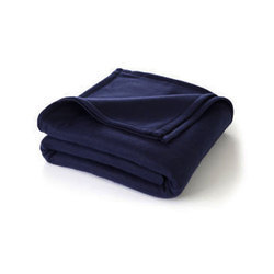 Winter King-Navy Plain Fleece Blanket