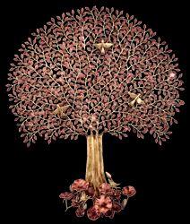 树与莲花叶子基地装饰物品