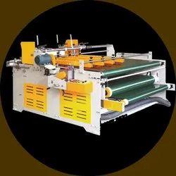 Semi Automatic Pasting Hand Folding An Pressing Machine