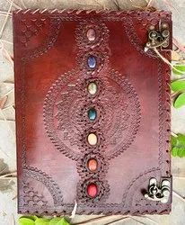 Seven Stone Handmade Leather Journal with Lock