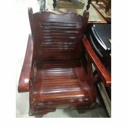 Brown Teakwood Wooden Chair