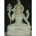 Off White Shiva Statue