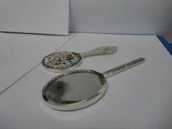 SBJ Round Silver Mirror Frame