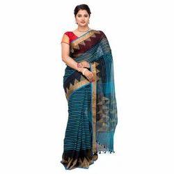 Ladies Designer Saree with Blouse Piece, Packaging: Plastic Bag & Box