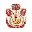 Marble Ganesh Idol Multi Turban 3 inch