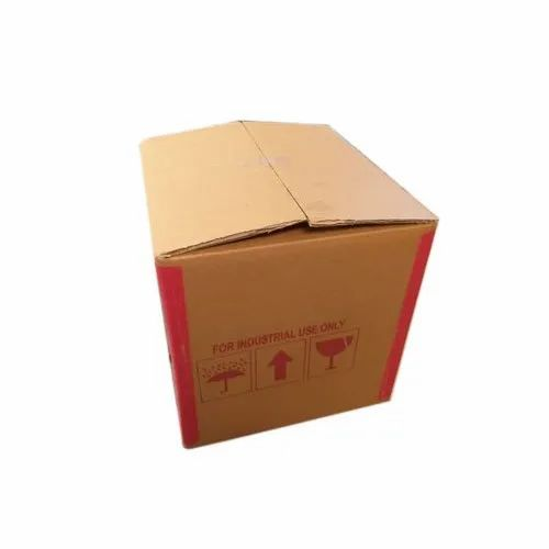Corrugated Paper Square Cloth Binding Corrugated Box, Box Capacity: 20-80 kg