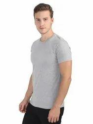 Mens Cotton Plain Round Neck T Shirt