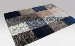 SGE Chenille Patchwork Rug