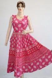 Pink Jaipuri Print Frock