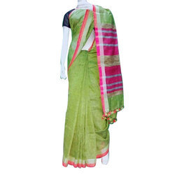 Party Wear Ethnic Handloom Saree, 5.5 m (separate blouse piece), Hand Made
