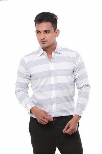 16faabf61712 Cotton/Linen 2xl, 3xl Twist Men's Slim Fit Formal Shirts Grey S To ...