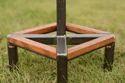 Industrial Wood and Steel Adjustable Height Bar stool
