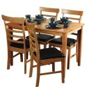 Plywood & Marble Cushion Second Hand Restaurant Furniture With 4 Seating Capacity