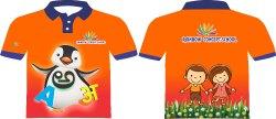 Orange Kids School  T-Shirt Uniform