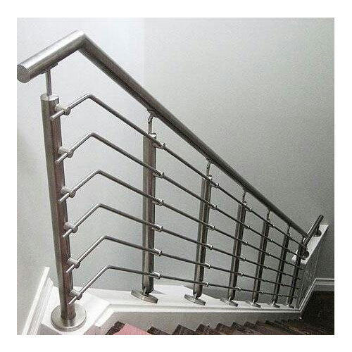 Silver Stainless Steel Staircase Railing, Rs 950 /running