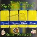 Zigzag Crown Tpu Transparent Back Cover