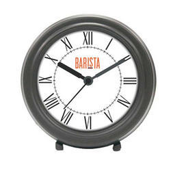 Black And White Round Table Clock