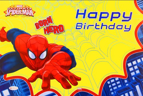 Spiderman Theme Happy Birthday Big Size Wall Posters For Kids Room Decoration Items Birthday Supplies Edunovate Meerut Id 21530266073