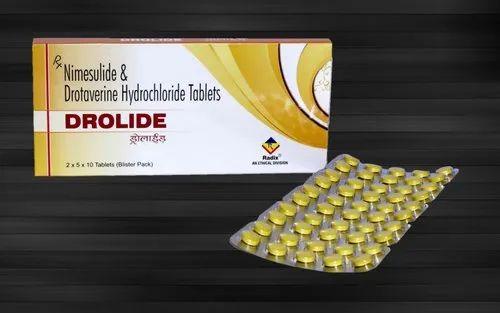 Drolide Radix Drotaverine 80 mg & Nimesulide 100 mg Tablets