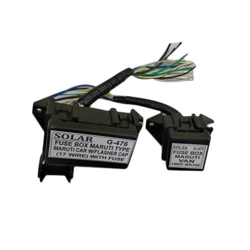 automotive fuse box with wire