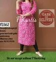 Beautiful Straight Fit Bandez Printed With Gotta Embroidery Kurtis