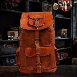 Handmade Leather Shoulder Backpack