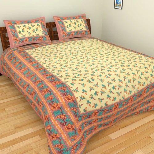 Super King Size Sanganeri Printed Bedsheets