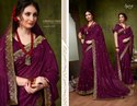Designer Ethnic  Purple  Silk Sarees
