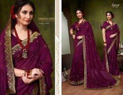 Designer Ethnic  Purple  Silk Sarees