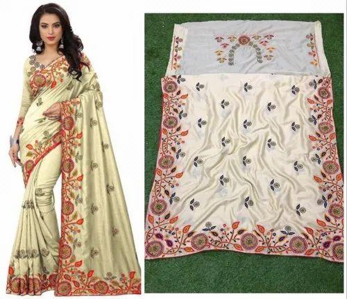 9db069439f Epsilon Sales Corp Vichitra Silk Party Wear Stone Work Saree, Blouse Size:  0.80,