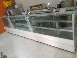 Stainless Steel Sweets Display Counter With Korean, For Snacks And Sweet