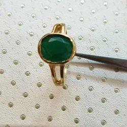 Natural Emerald Ashtadhatu Ring