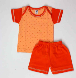 Orange Color Top And Bottom Set