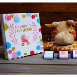 Baby Shower Chocolate Gift Box of 9 Chocolates (Customized)