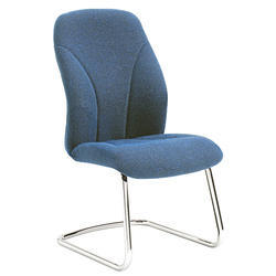 Armless Visitor Office Blue Chair