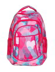 Infinit Pink Color Small School Backpack