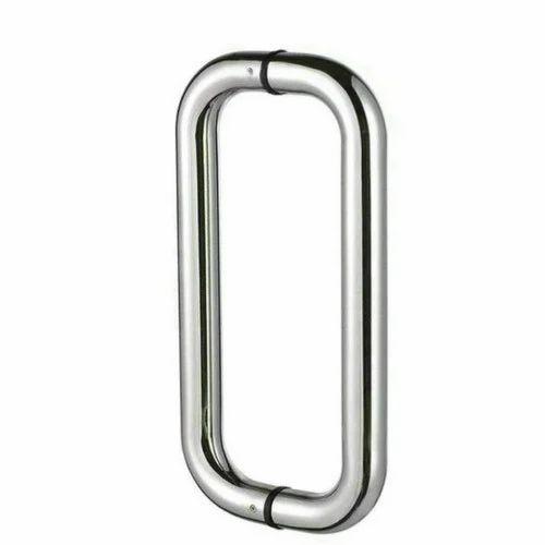 Stainless Steel Glass Door Pull Handle Satinmatt And Tt Matt Rs