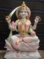 Maa Santoshi Marble Statue