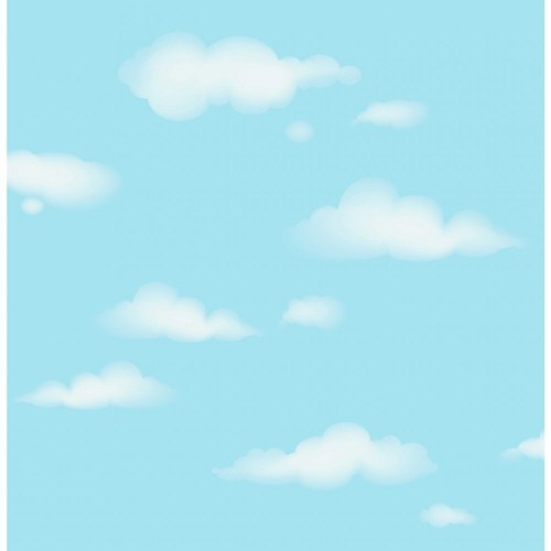 Pvc Glossy Sky Cloud Blue Design Ceiling Wallpaper Size 57 Sq Ft