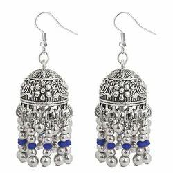 Oxidised Jhumki Earrings