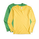 Yellow, Green Cotton Ladies Full Sleeve Plain T-shirt