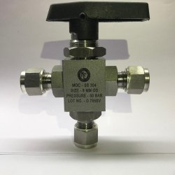 3 Pc Panel Mounted Ball Valve