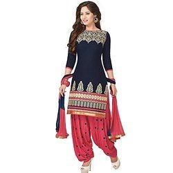 Cotton Patiala Salwar Ladies Embroidered Suit