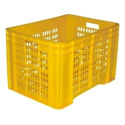 Yellow Plastic Crate